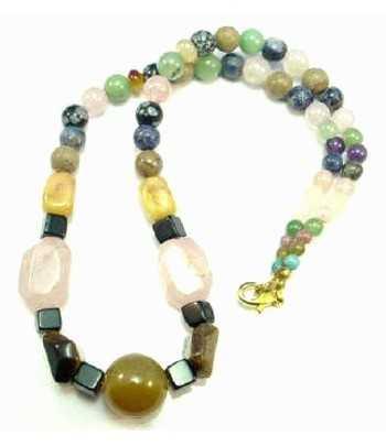Gemstone Necklace - 2 18 Inch