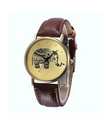 Elephant Dial Watch With...