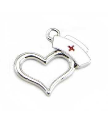 Nurse Hat on Heart Charm NHOH