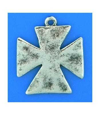 Enameled Confederate Flag Heart Charm