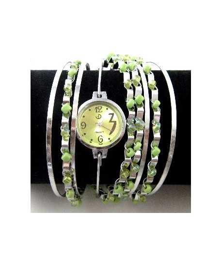 Green Cuff Bangle Watch - BL-CBWB25