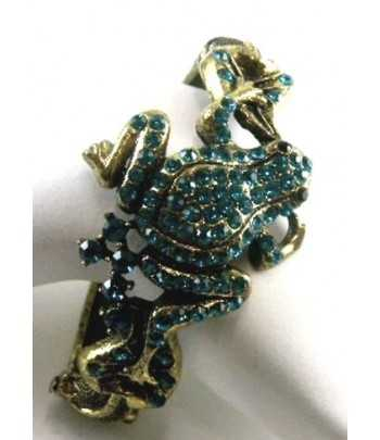 Rhinestone Frog Bangle...