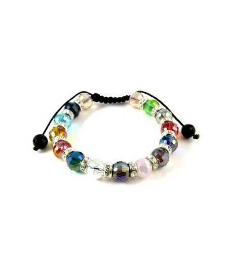 Multi Colored Shamballa Bracelet - FB-5
