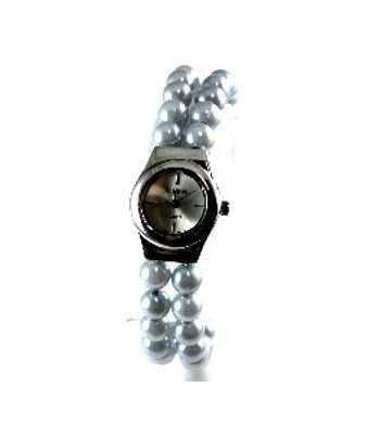 Blue Pearl Bangle Watch -...