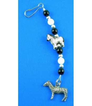 Palm Tree Rhinestone Moon Charm 25x21mm