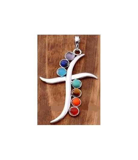 Seven Gemstone Cross Pendant - Jolin SP5 31x49mm