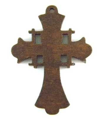 Wooden Cross Charm - DH79...