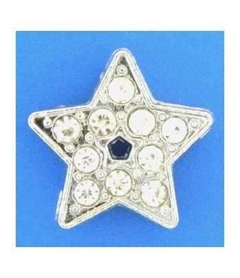 Crystal Star Slide Charm -...