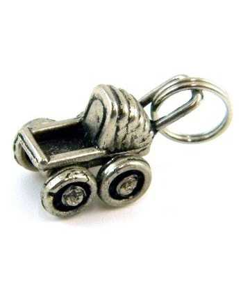 Antq Silver Baby Carriage...