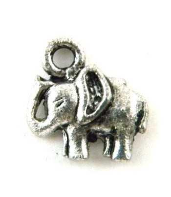 Antq Silver Metal Elephant...