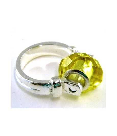 Yellow Euro Style - PR8-14 Size 8 Ring