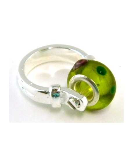 Lime Green Euro Style - PR8-8 Size 8 Ring
