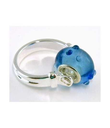 Blue Euro Style - PR8-7 Size 8 Ring