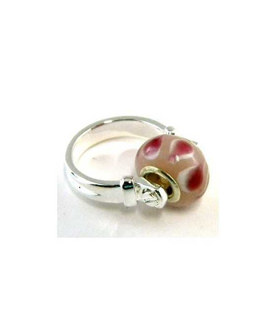 Candy Cane Enameled Charm 19x9mm