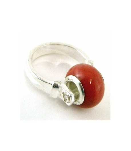 Orange-Red Euro Style - PR7-38 Size 7 Ring
