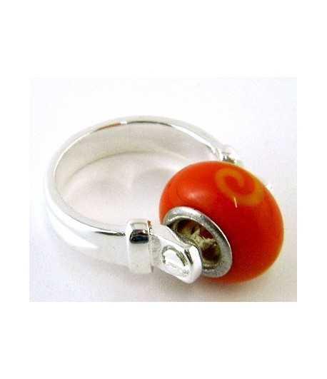 Orange-Yellow Euro Style - PR7-1 Size 7 Ring