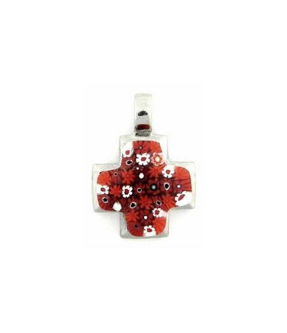 American Flag Sterling Silver Charm 20x18mm