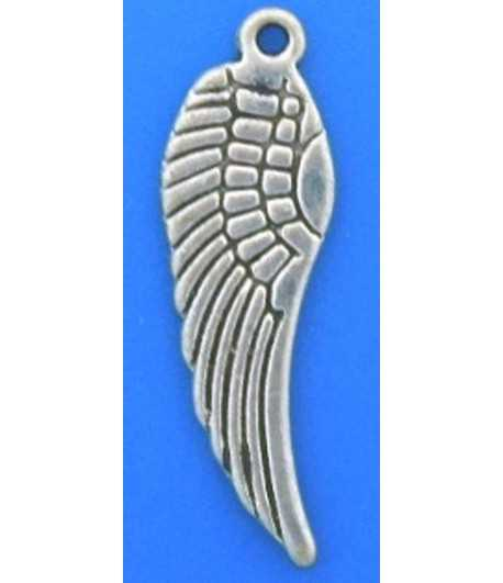 Antq Silver Wing Pewter Charm - DH139 22x9mm