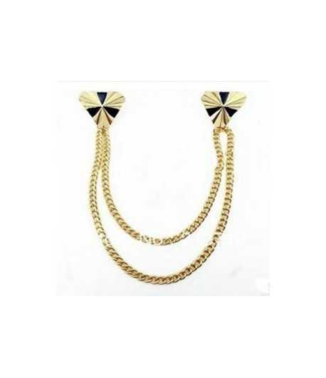 Rose Gold Collar Chain Brooch - YBJ-YWJR780