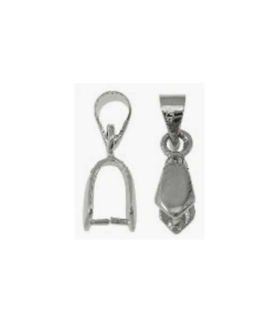 Cross with Jesus Sterling Charm 28x14mm