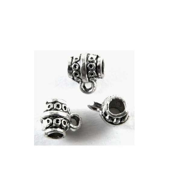 """""""Mom"""" In Flowers Sterling Charm 15x15mm"""
