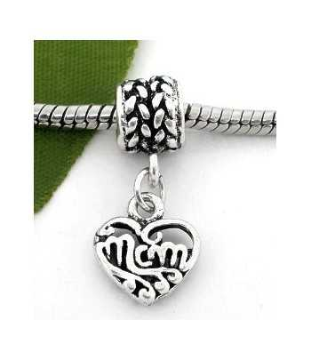 """Number 1 Mom"" Sterling Charm 15x15mm"