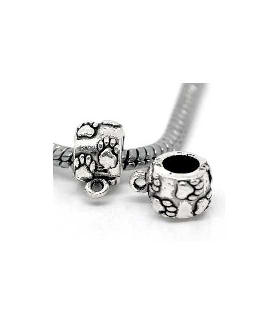 Small Blow Dryer Sterling Charm 18x8mm
