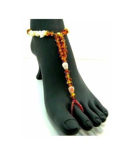 Topaz Beaded Stretch Barefoot Sandal - BC-TAB2