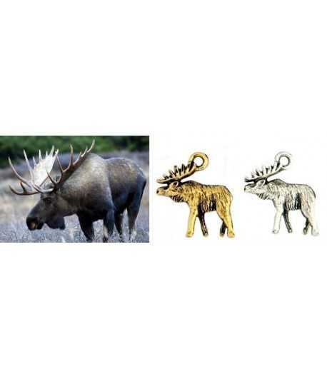 Moose Charm 3D