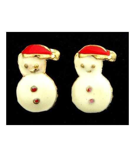 Snowman Studded Earrings - XM-ER7