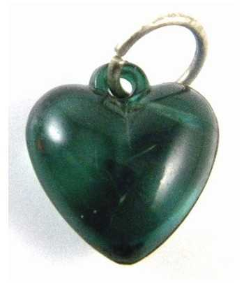 Green Heart Acrylic Charm -...