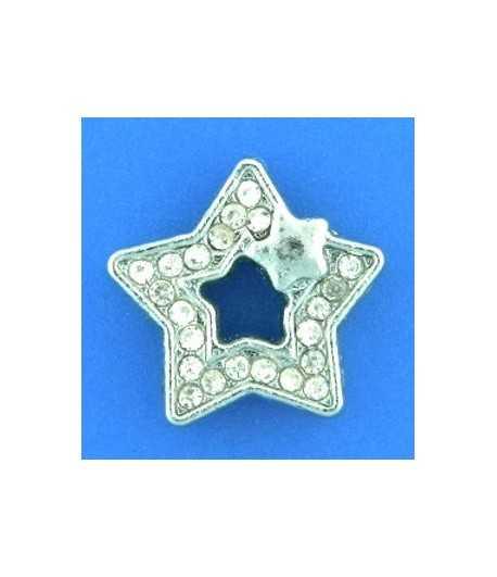 Crystal Star w/Star Slide Charm PH-E377-7 14x14mm