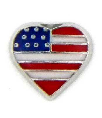 Heart Flag Floating Charm...