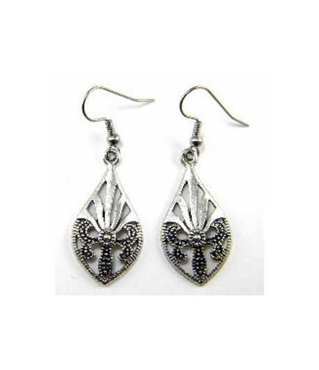 Metal Teardrop Earrings -  B08735 32x16mm