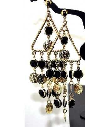 Chandelier on Gold Earrings...