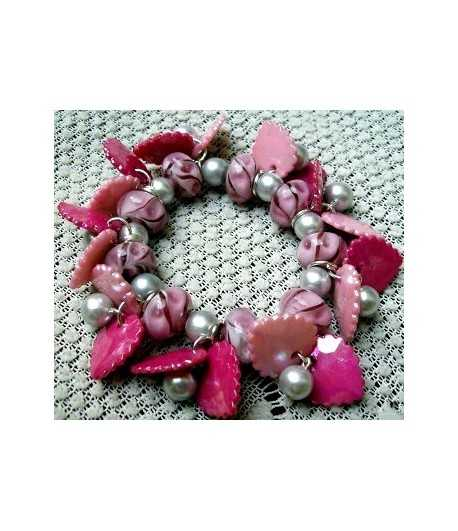 Silver Chain w/ Lobster Claw Clasp & Heart Locket w/Rhinestones DAG-FN1 32 Inch