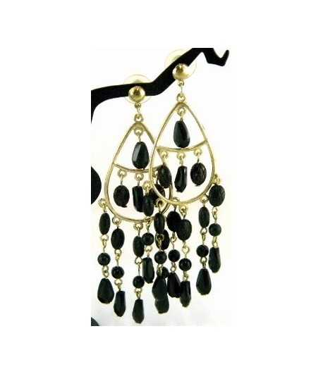 Chandelier on Gold Earrings - DAG-ER4