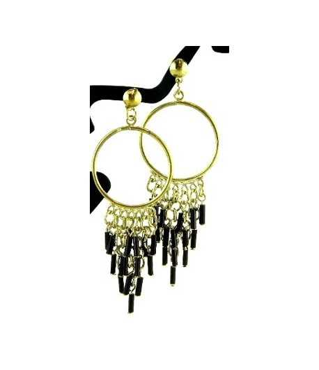 Chandelier on Gold Earrings - DAG-ER1