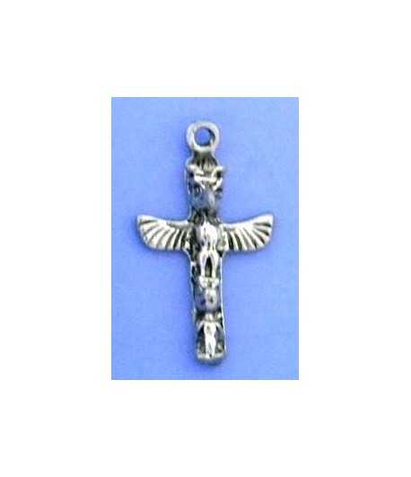 Totem Pole Sterling Silver Charm 23x13mm