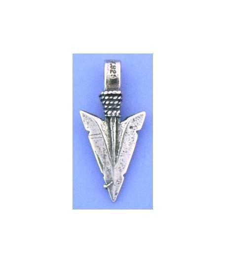 Arrowhead Sterling Silver Charm 18x12mm