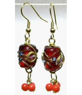Red-Blue Gold Wire Wrapped...