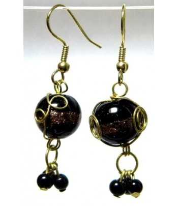 Black Gold Wire Wrapped...