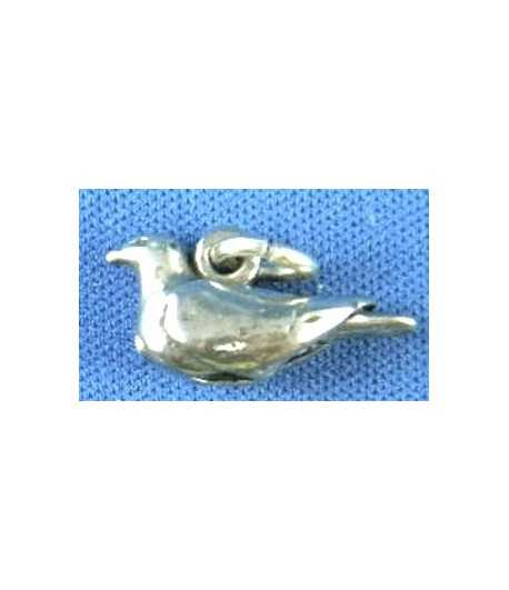 Turtle Dove Sterling Charm 19x10mm
