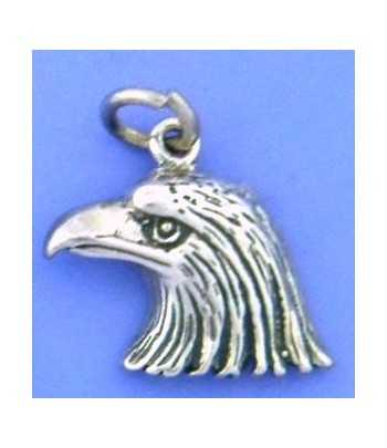 Small Eagle Head Sterling...