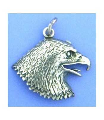 Eagle Head Sterling Charm...