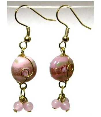 Pink Gold Wire Wrapped...