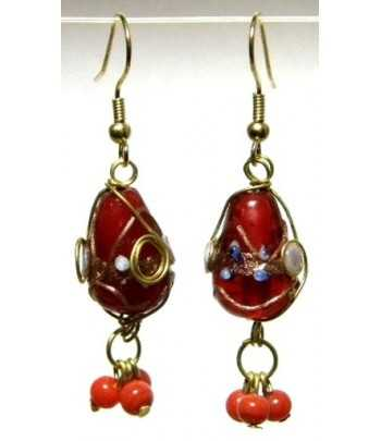 Red Gold Wire Wrapped...