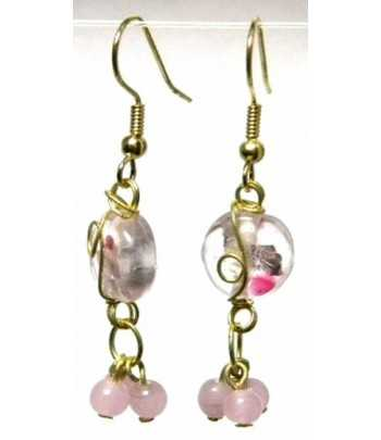 Pink-Clear Gold Wire...