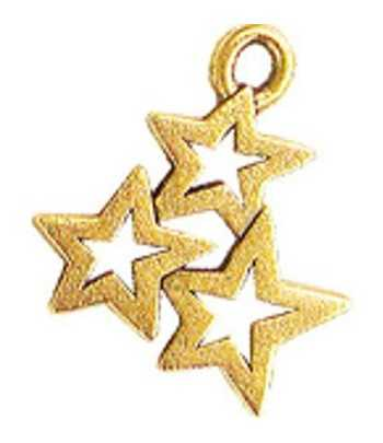 Three Star Charm 20x17mm