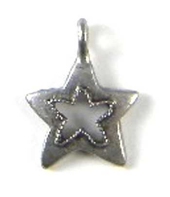 Star Charm 18x14mm